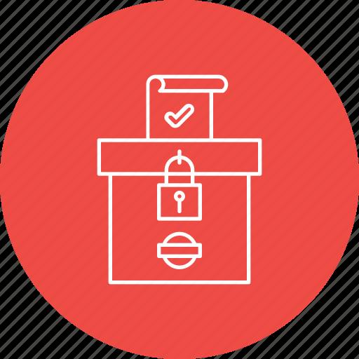 box, election, secure, vote, votebank, voting icon