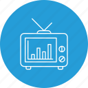 analysis, comparision, media, news, poll, press, statistics icon