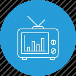 analysis, comparision, media, news, poll, press, statistics icon