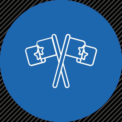 election, flag, logo, party, sign icon