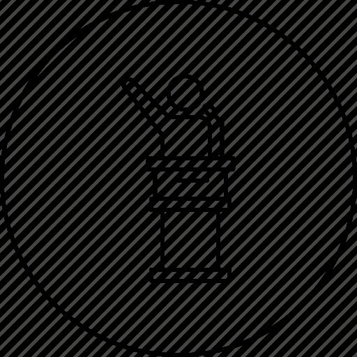 Campaign, election, leader, podium, promotion, speaker icon - Download on Iconfinder