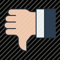 dislike, feedback, negative, thumbsdown, voting icon