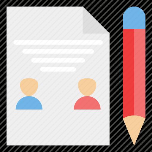 biodata, curriculum, cv, profile, resume, vitae icon