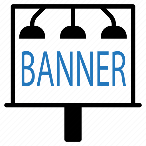 advertisement, banner, board, marketing, sign icon