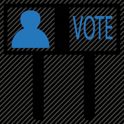 board, democracy, election, sign, vote icon