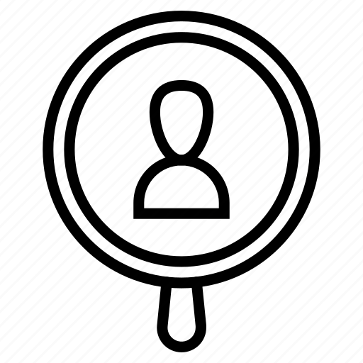 human, job, listing, profile, resources, search icon