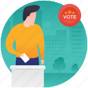ballot, elections, referendum, vote casting, voting icon