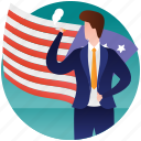 election day, government flag, patterned flag, political flag, presidential elections icon