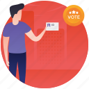 ballot, referendum, vote casting, voter, voting icon