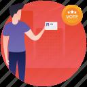 ballot, referendum, vote casting, voter, voting icon