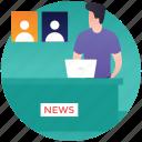 candidate speech, political interview, political news, political speech, public speaking icon