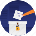 ballot box, election box, polling box, suggestion box, voter box icon