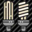 fluorescent, lamp, bulb, saving, light, bright, tube icon