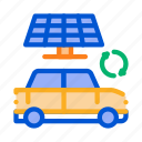 car, electric, electrical, electro, panel, solar, transport icon
