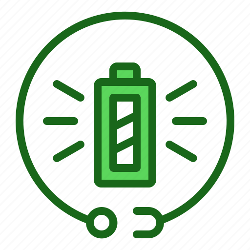 battery, charging, full icon