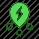 energy, multiple icon