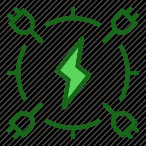 electric, energy, power icon
