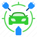car, charging, electric icon