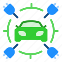 car, charging, electric, power icon