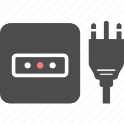 electric, l, outlet, pin, plug, socket, type icon