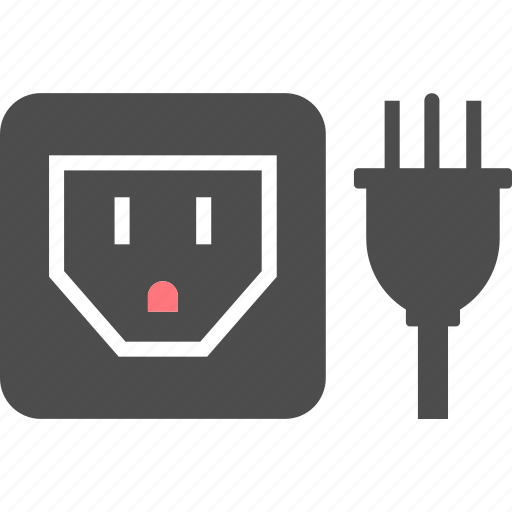 b, electric, outlet, pin, plug, socket, type icon
