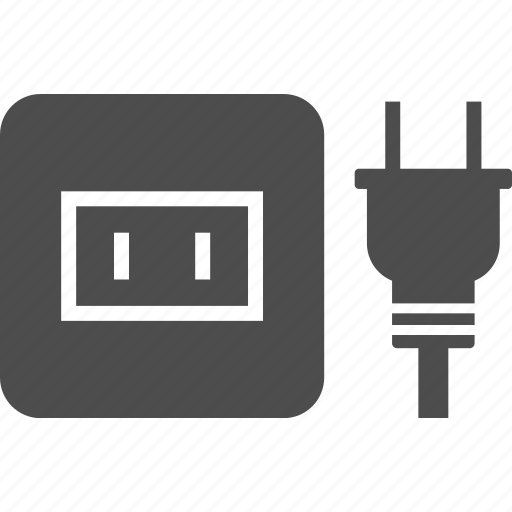 a, electric, outlet, pin, plug, socket, type icon