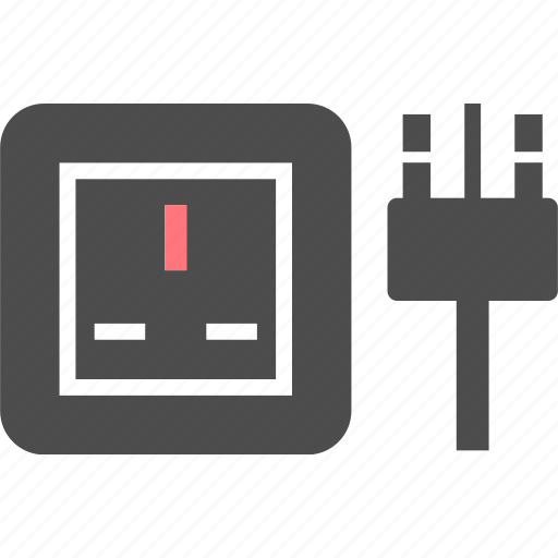 electric, g, outlet, pin, plug, socket, type icon