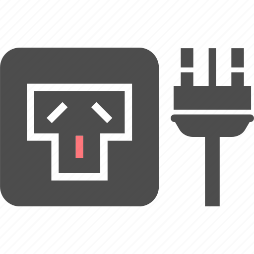 electric, i, outlet, pin, plug, socket, type icon