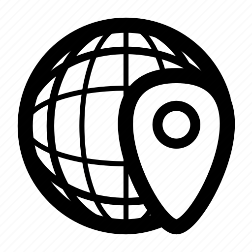 internet, location, marker, pin, planet, world icon