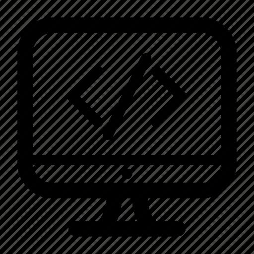 code, html, imac, programmer icon