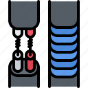 cable, connection, electrician, electricity, electrification, tape, wire icon