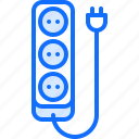 electric, electrician, electricity, electrification, power, strip icon