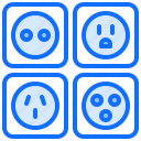 electric, electrician, electricity, electrification, socket icon