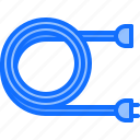 cord, electric, electrician, electricity, electrification, extension icon