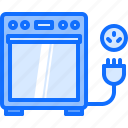 cooker, electric, electrician, electricity, electrification, socket icon