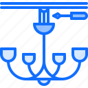 chandelier, electric, electricity, electrification, etelectrician icon