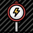 electronics, sign, signaling, triangle, warning