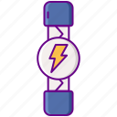 battery, electricity, fuse, power icon