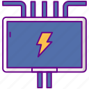 box, electricity, fuse, power icon
