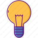 bulb, incandescent, light, lightbulb icon