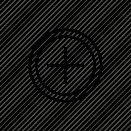 add, circle, create, new, plus, polarity, shopping icon