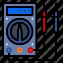 amp, meter, multimeter, ohm, voltage icon