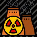 electricity, nuclear, plant, power, uranium icon