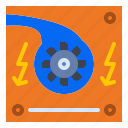 electro, generator, hydro, power, turbine icon