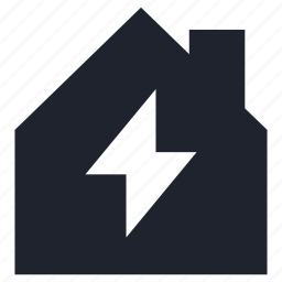 electricity, electrification, home, house, light icon