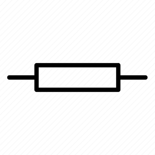 circuit, electric, electrical, electricity, resistor, sign, waveform icon