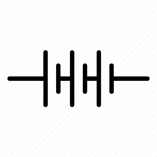 battery, circuit, electric, electrical, electricity, sign, waveform icon