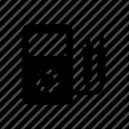 ammeter, ampere meter, digital meter icon