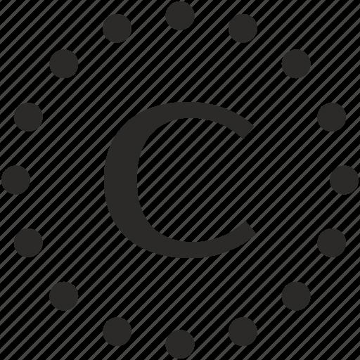 c, dots, key, latin, letter icon