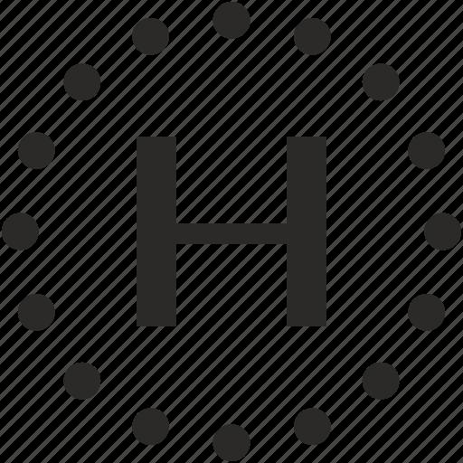 dots, h, key, latin, letter icon